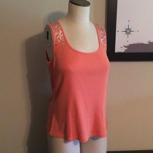 Mixit - Sequined Tank Top - Size XL